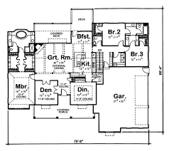 bungalow style house plan 3 beds 2 50 baths 2471 sq ft plan 312 700