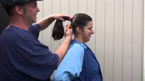 ponytail haircut technique big extremely thick ponytail gets chopped off youtube