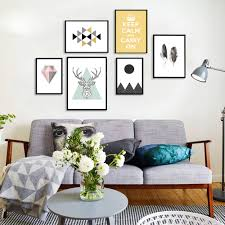 aliexpress com buy nordic style abstract geometry figure animals