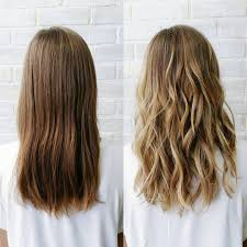 Hair Falling Out After Coloring Before And After Of A Sun Kissed Natural Balayage Low