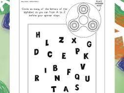 fidget spinner alphabet circling by visuallearningforlife