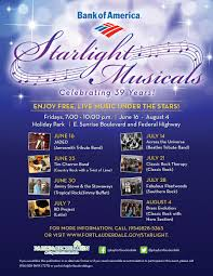 Lights All Night 2014 Lineup City Of Fort Lauderdale Fl Starlight Musicals