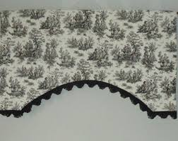 Toile Window Valances Jamestown Toile Etsy