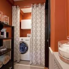 Drying Racks For Laundry Room - chicago corner curtain rod laundry room contemporary with divider