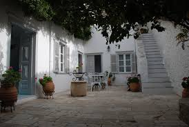 l shaped towhnome courtyards holiday home to rent in hydra town hydra island greece the