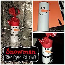 diy snowman toilet paper roll craft for kids crafty morning