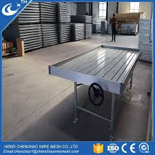 Metal Greenhouse Benches Wire Mesh Greenhouse Rolling Benches Wire Mesh Greenhouse Rolling