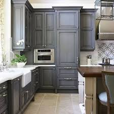 two tone gray kitchen cabinets