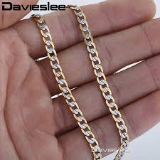 womens necklace chains images Online shop davieslee necklace for men women curb chain cuban link jpg