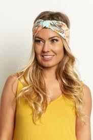 mint green headband mint green tropical headband