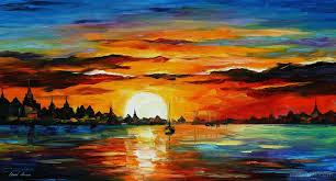 sunrise painting leonid afremov 5