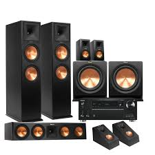 klipsch reference home theater system klipsch rp280f 5 2 2 home theater package w onkyo txrz710 7 2