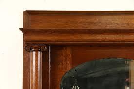 sold fireplace oak 1900 antique mantel mirror u0026 surround