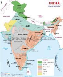 soil map major soil types of india