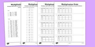 multiplying 4 digit numbers by 2 digit numbers using grid method