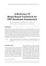 Cover Letter For Mckinsey A Mckinsey 7s Model Based Framework For Erp Readiness Assessment