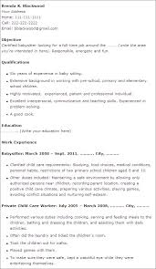 Babysitter Resume Examples by 11 Babysitting Resume Sample Easy Resume Samples