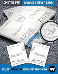Lawyers Business Cards Divorce Lawyer Split Business Card By Whyaudiotastesbetter