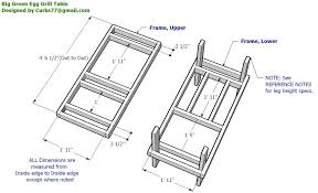 xl big green egg table plans pdf wooden large big green egg table dimensions diy blueprints large big