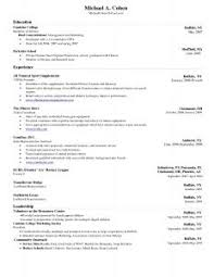 one page resume template word zoom resume template word