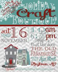 holiday craft boutique fair show flyer poster by jalipeno on etsy