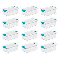 Sterilite Showoffs Storage Container - sterilite 6 quart clear stackable latching storage box container