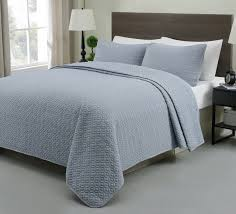 Blue Quilted Coverlet Allyson 3 Piece Quilted Coverlet Bedspread Set Stone Blue Color