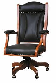 amish handcrafted and custom office desk chairs