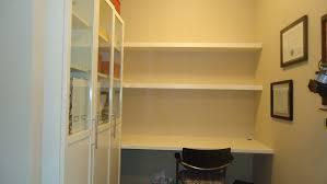 floating wall shelves over desk white wooden swivel chair loversiq