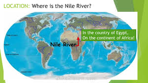 nile river on map reviewing the 5 themes of geography gift of the nile