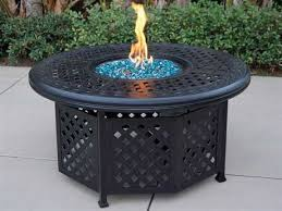 round propane fire pit table darlee outdoor living series 30 cast aluminum antique bronze 48