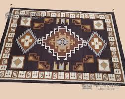 handwoven wool southwestern area rug 6x9