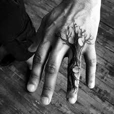 masculine tree simple hand tattoos for men tatoo elements