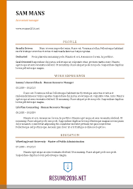 accounting resume templates accountant resume sle 2016
