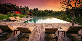 the pool pavilion of villa sawah lebak in bali luxury villa in