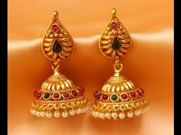 gold jhumka earrings design with price 22ct gold jummukas earrings designs gold earrings jhumka