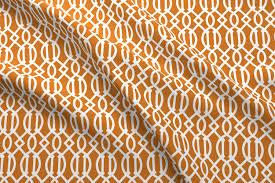 Moroccan Trellis Fabric Burnt Orange Trellis Fabric Sweetzoeshop Spoonflower