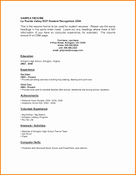 sle high student resume no experience 6 student resumes with no experience model resumed
