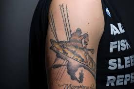 their skin fishing tattoos fish