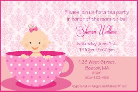 making great tea party baby shower invitations