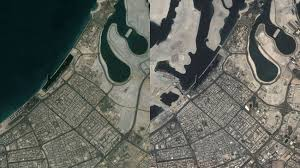 world map city in dubai 11 shocking earth before and after photos