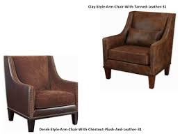 Tan Leather Accent Chair Accent Chairs