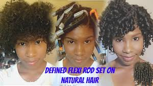 defined flexi rod set on short curly hair no heat natural