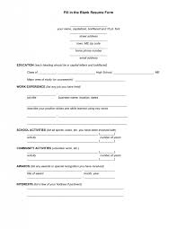 Free Resume Template Downloads Pdf Resume Format Blank Blank Resume Application Form Http