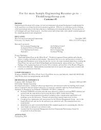 Sample Profile Resume Engineering Profile Resume Resume For Your Job Application