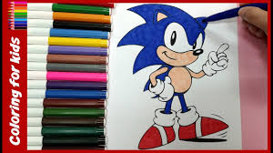 painting for kids how to color sonic the hedgehog for kids