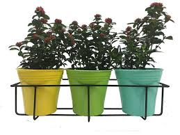 balcony railing planter grill mountable flower pot stands
