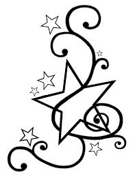 swirly star tattoo design template by darkhaiiro deviantart