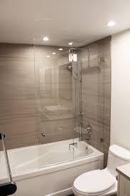 bathroom shower doors traditional full bathroom with tiled wall