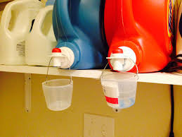 Laundry Room Detergent Storage by Drip Catcher And Storage For Detergent Cups Home Organization